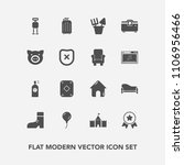 modern  simple vector icon set... | Shutterstock .eps vector #1106956466