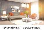 interior living room. 3d... | Shutterstock . vector #1106959808