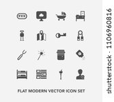 modern  simple vector icon set... | Shutterstock .eps vector #1106960816