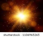 star burst with sparkles. light ... | Shutterstock .eps vector #1106965265