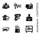 motor insurance icons set.... | Shutterstock .eps vector #1106970515