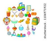 children activity icons set.... | Shutterstock .eps vector #1106971922