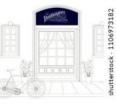 vintage style background. line... | Shutterstock .eps vector #1106973182