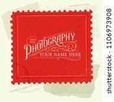 vintage background with retro... | Shutterstock .eps vector #1106973908