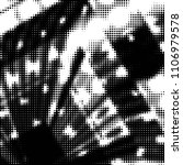 grunge halftone black and white ... | Shutterstock .eps vector #1106979578