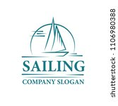 logo of a sailing yacht in the... | Shutterstock .eps vector #1106980388