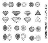 vector set of diamond design... | Shutterstock .eps vector #110698112