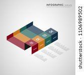isometric infographic colorful... | Shutterstock .eps vector #1106989502