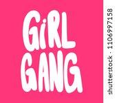girl gang. sticker for social... | Shutterstock .eps vector #1106997158