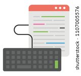 coding script along with... | Shutterstock .eps vector #1107005576