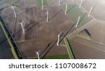 aerial top down picture of wind ...   Shutterstock . vector #1107008672