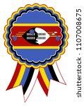 swaziland award ribbon vector... | Shutterstock .eps vector #1107008675