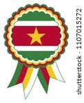 suriname award ribbon vector in ... | Shutterstock .eps vector #1107015272