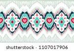ikat geometric folklore... | Shutterstock .eps vector #1107017906