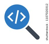 code search vector icon