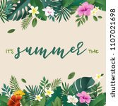 hello summer vector... | Shutterstock .eps vector #1107021698