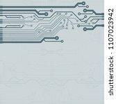 vector flat circuit board... | Shutterstock .eps vector #1107023942