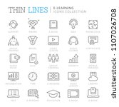 collection of e learning thin... | Shutterstock .eps vector #1107026708