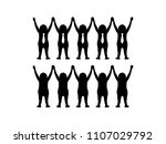 business people holding hands | Shutterstock .eps vector #1107029792