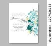 wedding invitation vector...   Shutterstock .eps vector #1107036158