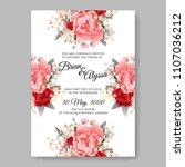 wedding invitation vector... | Shutterstock .eps vector #1107036212