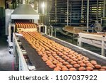 conveyor belt in confectionery... | Shutterstock . vector #1107037922