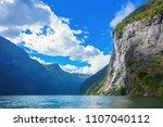 geiranger fjord famous...   Shutterstock . vector #1107040112