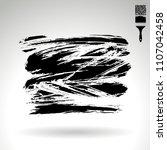 black brush stroke and texture. ... | Shutterstock .eps vector #1107042458