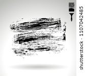 black brush stroke and texture. ... | Shutterstock .eps vector #1107042485