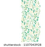 seamless vector floral border... | Shutterstock .eps vector #1107043928
