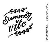 summertime lettering  modern... | Shutterstock .eps vector #1107046442