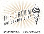 ice cream hot summer cure logo... | Shutterstock .eps vector #1107050696