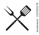 bbq or grill tools icon.... | Shutterstock .eps vector #1107052178