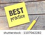 best practice text concept ... | Shutterstock . vector #1107062282