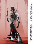 zombie or vampire hunter.... | Shutterstock .eps vector #1107062612