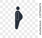 obesity vector icon isolated on ... | Shutterstock .eps vector #1107064676