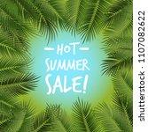 vector summer poster framed... | Shutterstock .eps vector #1107082622