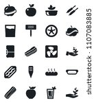 set of vector isolated black... | Shutterstock .eps vector #1107083885