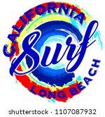 summer beach vector background... | Shutterstock .eps vector #1107087932
