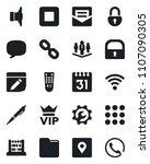 set of vector isolated black... | Shutterstock .eps vector #1107090305