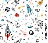 space background for kids.... | Shutterstock .eps vector #1107103652