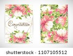 floral template greeting card ... | Shutterstock .eps vector #1107105512