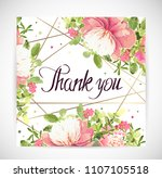 floral template greeting card ... | Shutterstock .eps vector #1107105518