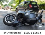 road accident with motor scooter | Shutterstock . vector #1107111515