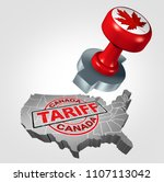 canadian tariffs on the united... | Shutterstock . vector #1107113042