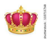 gold crown with jewels and... | Shutterstock .eps vector #110711768