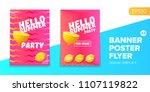 vector electronic music summer... | Shutterstock .eps vector #1107119822