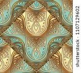 vintage floral 3d seamless... | Shutterstock .eps vector #1107129602