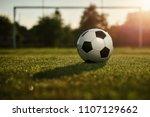 Soccer Ball In The Sunset       ...