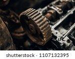 old engine. photo. auto... | Shutterstock . vector #1107132395